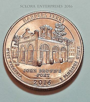 2016 D Harpers Ferry National Park Quarter  **free Shipping**
