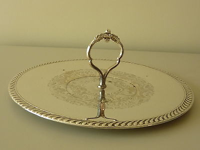 Vintage Silver Plated (Rideau Plate) Cake Stand Made In Canada