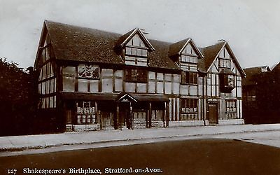 SHAKESPEARE'S BIRTHPLACE, Stratford-on-Avon ... RP postcard, posted 1922