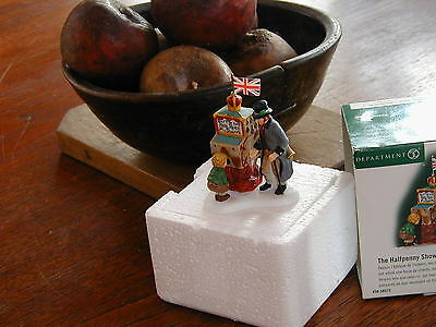 Department 56 The Halfpenny Showman Dickens' Village Figure, Orig Box Free Ship!