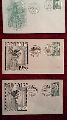 First Day Covers x 8 Spain (1953, 1954, 1956)