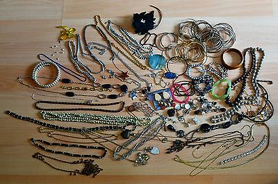 Over 80 Pieces of Fashion Costume Jewellery Jewelry Job Lot Car Boot or Resale