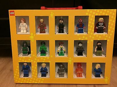 Rare Marvel Avengers Lego Figures (15) & Carry Case
