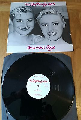"Rhythm Sisters American Boys Uk Original 3 Track 12"" Single 1987 Release"