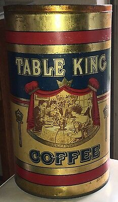 3 LB TABLE KING COFFEE TIN CAN Duluth MN Rust Parker Company RARE