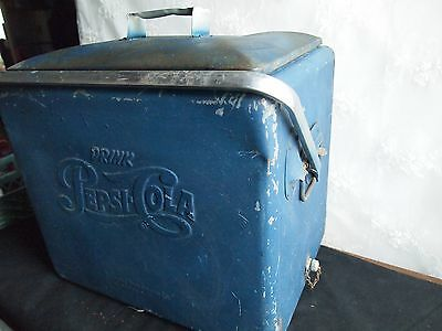 Vintage 1950's Collectible Drink Pepsi-Cola Cooler With Opener