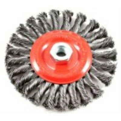 Forney 72758 Wire Wheel Brush, Twist Knot with 5/8-Inch-11 Threaded Arbor, 6-Inc