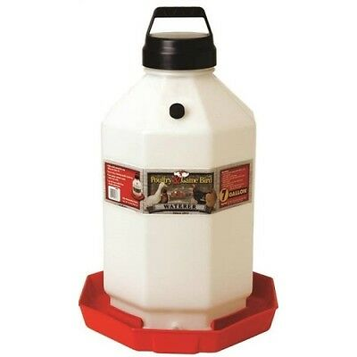 Miller Manufacturing PPF7 7-Gallon Plastic Poultry Waterer, Red