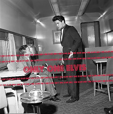 ELVIS PRESLEY on Train 1960 8x10 Photo with Sonny West
