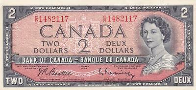 CANADA TWO DOLLAR 1961-72 (P-76b) - LOW START WITH NO RESERVE