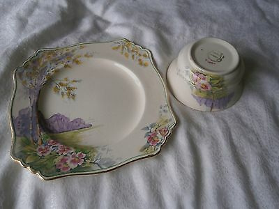 Royal Winton (Grimwades) Bread And Butter Plate + Sugar Bowl