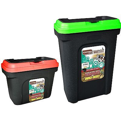 2 X Pet Food Containers Dog Cat Dry Feed Bird Seed Storage Box Bin - 8Kg & 15Kg
