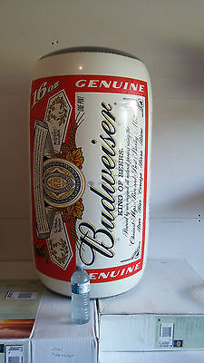 Large inflatable cans of Budweiser beer