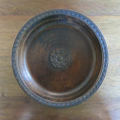 Antique Black Forest Wooden Music Bowl Germany