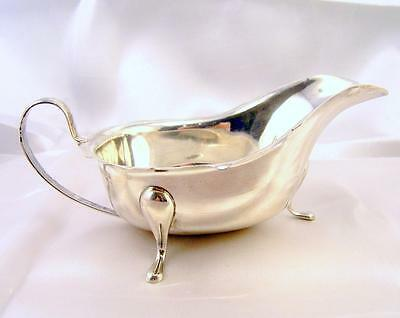 Solid Silver SAUCE BOAT Viners 194gms