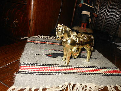 Beautiful Orig.metal Gold Colored Carnival Prize Western Horse