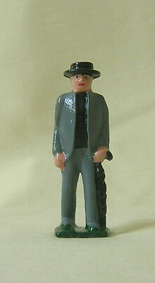 "Preacher / Parson, 2-1/4"" model train layout figure, Grey Iron reproduction"