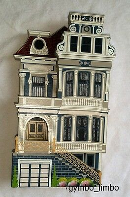Shelia's Collectibles Eclectic Blue Painted Lady San Francisco CA 1995 Victorian