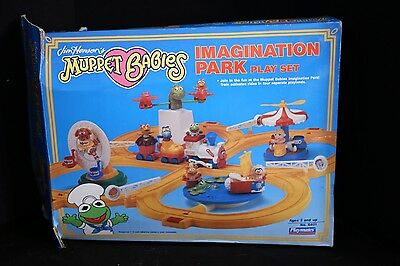 Muppet Babies Imagination Park Playset Toy Play Set Playmates 1990 Train