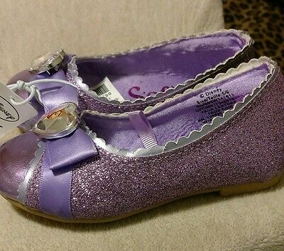 Authentic Disney Sofia the First Shoes for Toddler Girls Size (5/6) Glitter Bow