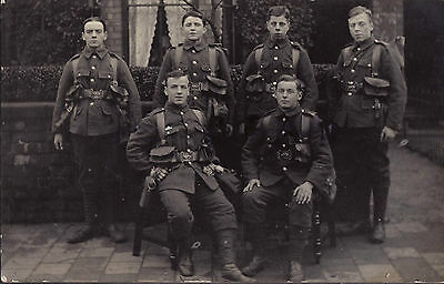 WW1 soldier group Infantry battalion TF Territorials full marching Order