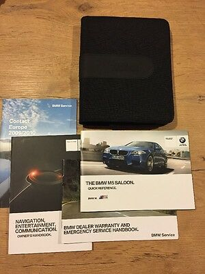 Bmw M5 Saloon Owners Manual / Bookpack With Book Wallet