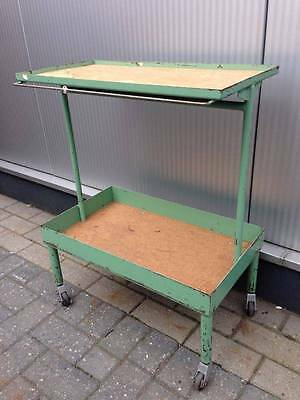 Vintage industrial French tool trolley