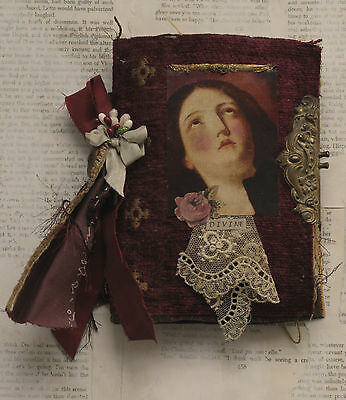 Mixed Media Fabric Collage Book Of Sweet Madonnas