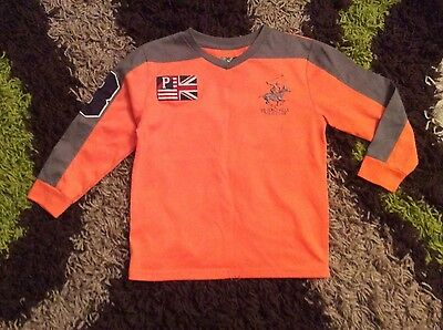 Boys Polo Club Orange Long Sleeve T-Shirt Size 4 yrs