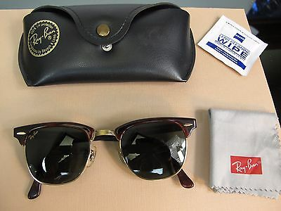 RAY BAN AVIATOR SUNGLASSES CLUBMASTER WO366 VINTAGE Green lens