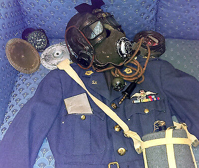 WWII RAF Pilot Victor Rehse's C-Type Leather Flying Helmet & E-Type Mic + Wiring