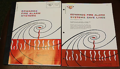 EDWARDS FIRE ALARM SYSTEMS Commercial CATALOG & BROCHURE 1964 VINTAGE
