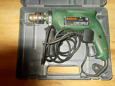 Bosch Csb 550 E Corded Electronic Hammer Drill 240V-550W With Case Gwo