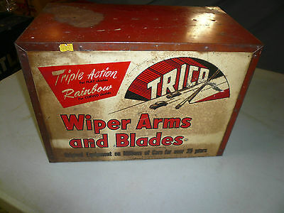 VINTAGE 60s GAS STATION Trico WIPER DISPLAY SERVICE PARTS CABINET - Countertop
