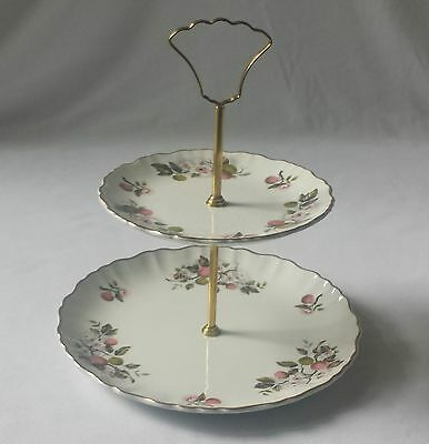 Lovely Vintage 1960's James Kent Old Foley 2 Tier Cake / Sandwich Stand  England