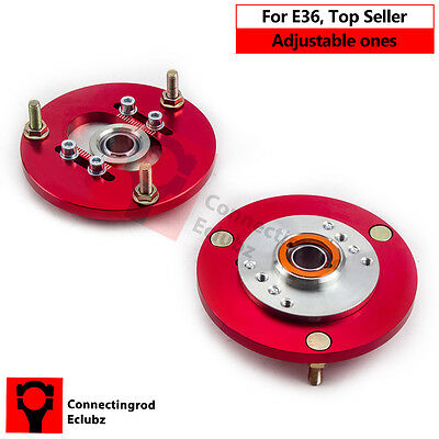 Fit BMW E36 3 Series M3 92—99 Front Coilover Red Camber Plate Kit CRC