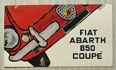 FIAT ABARTH 850 COUPE Car Sales Brochure c1959