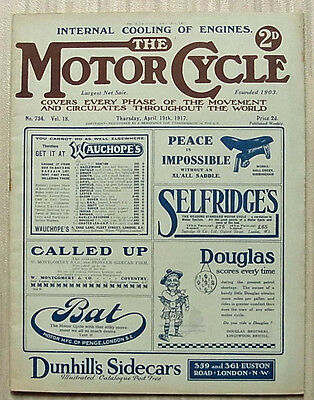 The MOTOR CYCLE Magazine 19 April 1917 EUK Easy Starter