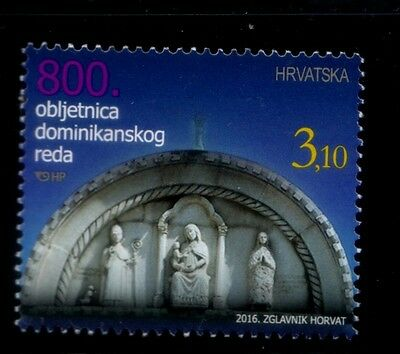 CROATIA 800th Anniversary of the Dominican Order MNH stamp