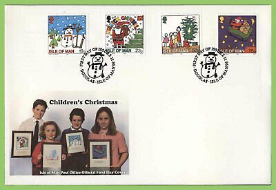 Isle of Man 1996  Christmas set on First Day Cover
