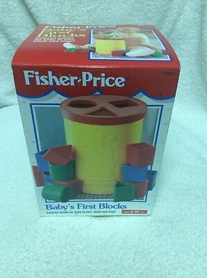 Fisher Price Baby's First Blocks Colorful Blocks For Baby To Sort Nib