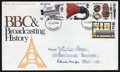 GB: Broadcasting Anniversaries; First Day Cover (FDC)