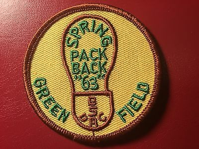Detroit Area Council 1963 Spring Pack Pack Patch  (NB851)