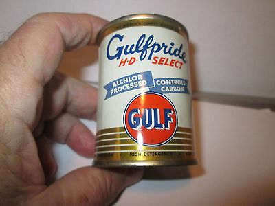 GULF OIL CO.   4 OZ. METAL OIL CAN BANK 1950 's