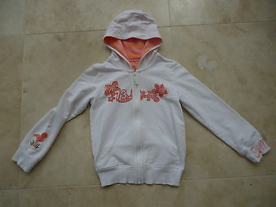 M&S white zipped hooded jacket hoodie AGE 9-10