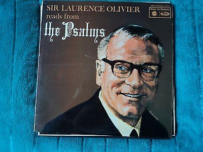 SIR LAURENCE OLIVIER  Reads From The Psalms    LP    EX / G