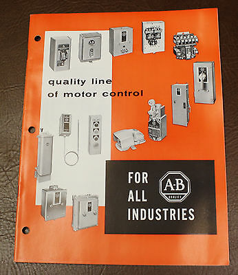 Allen-Bradley A-B Motor Controls Regulators Starters ++ Commercial CATALOG 1964