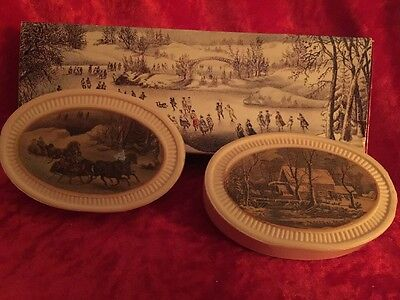 Set Of 2 Avon Special Occasion Fragranced Soaps Currier & Ives