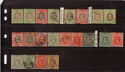 COLLECTION....  Nigeria  x21 QV to KGV mint or used