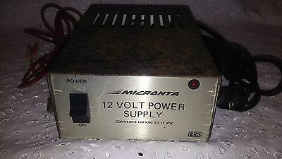 MICRANTA 12 VOLT POWER SUPPLY 278S, 13.8 VDC-1.75A, Works Fine! MADE IN U.S.A.